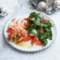 Lobster and Ruby Grapefruit with Watercress