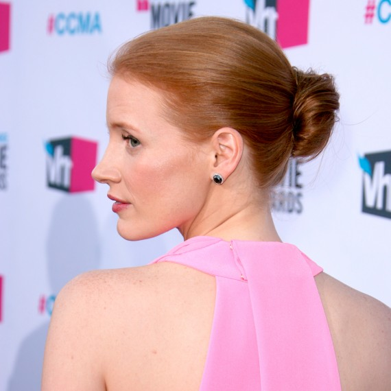 Jessica Chastain-Instant Hair Updates-beauty tips-haircare-woman and home
