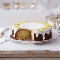 Lemon and marzipan drizzle cake recipe