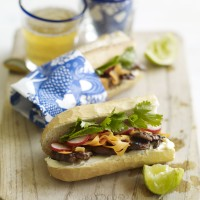 Vietnamese charred pork baguette with pickled veg recipe