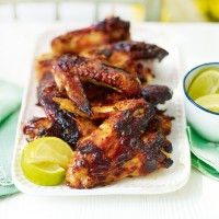 Sticky chicken wings with lemongrass and lime leaf recipe