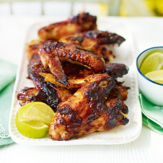 Sticky Chicken Wings with Lemongrass and Lime Leaf - Woman And Home