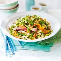 Thai beef salad with green bean noodles recipe