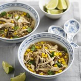 Chicken and sweetcorn noodle soup recipe