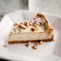 Maple and walnut cheesecake recipe