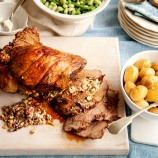 Mediterranean lamb with feta stuffing recipe