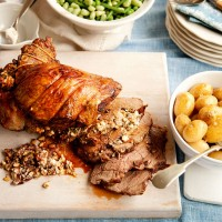 Mediterranean Lamb with Feta Stuffing