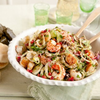 Seafood and fennel salad recipe