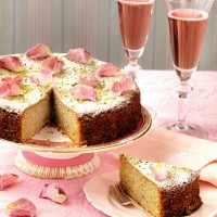 Pistachio and rose water cake recipe