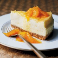 Baked Orange Cheesecake with Caramelised Oranges