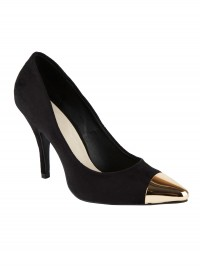 ASOS Pluto Point Court Shoes with Gold Toe