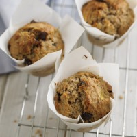 Banana choc chip muffins recipe