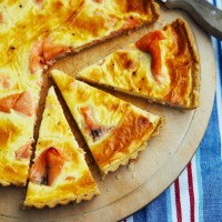 Smoked salmon tart recipe