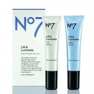 No 7 Lift and Luminate Day and Night serum