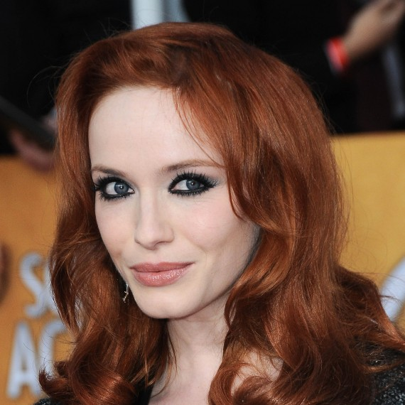 Celebrity dramatic make-up tips-beauty advice-woman and home-Christina Hendricks