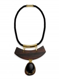 The Branch Semi-Precious Rosewood Statement Necklace