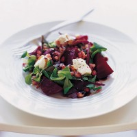 Beetroot, pomegranate and goats cheese salad recipe