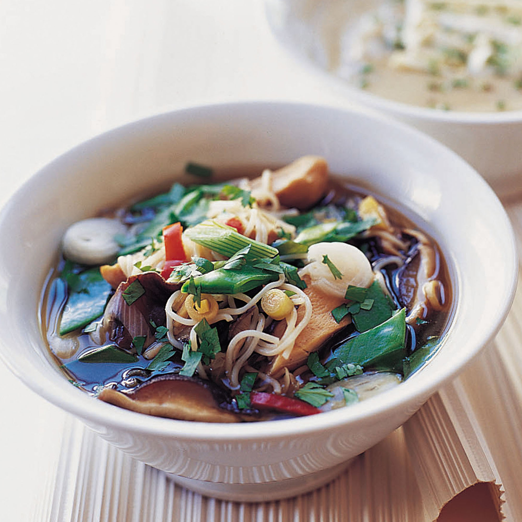 Chicken and Shiitake Mushroom Noodle Soup - Woman And Home