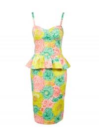 ASOS Peplum Dress in Darling Buds Print