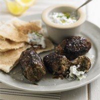 Lamb kofta with home made tzatziki recipe