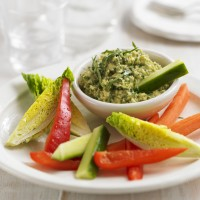 Lemon and coriander hummus recipe