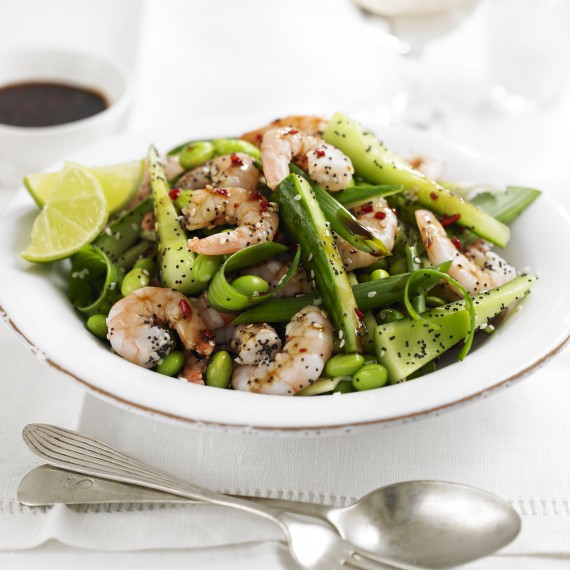Prawn, poppy and sesame seed salad recipe-recipes-recipe ideas-woman and home