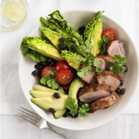 Smokey pork tenderloin salad with Tabasco lime dressing recipe