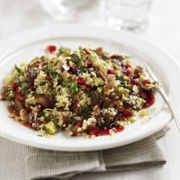 Fruit &amp; nut bulgur wheat salad recipe