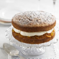 Orange &amp; poppy seed victoria sponge recipe