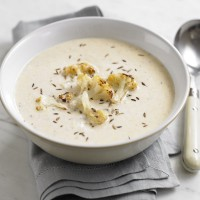 Roasted spiced cauliflower soup recipe