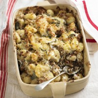 Garlic, chilli & sausage baked gnocchi recipe