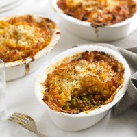 Mini Shepherd's Pies with Sweet Potato Mash