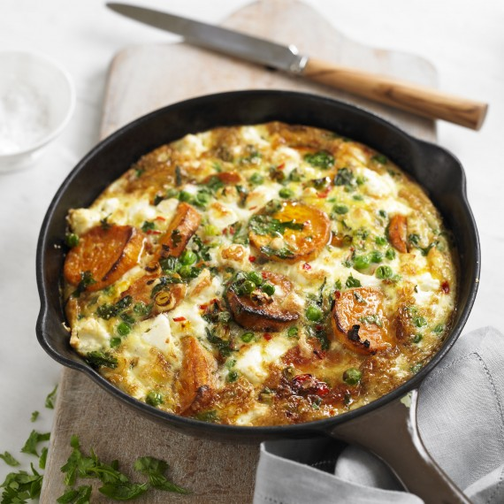 Sweet Potato and Spring Onion Frittata - Woman And Home