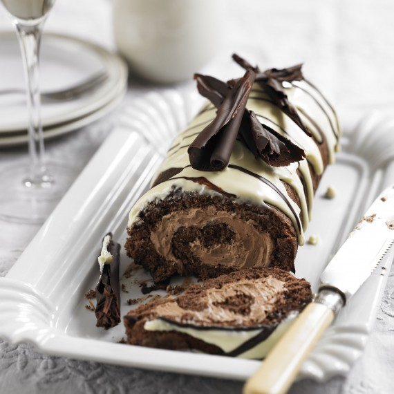 Triple Chocolate Swiss Roll Woman And Home