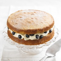 Victoria sponge with blueberries & cream cheese icing recipe