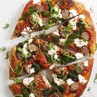 Spicy Sausage, Broccoli and Ricotta Pizza
