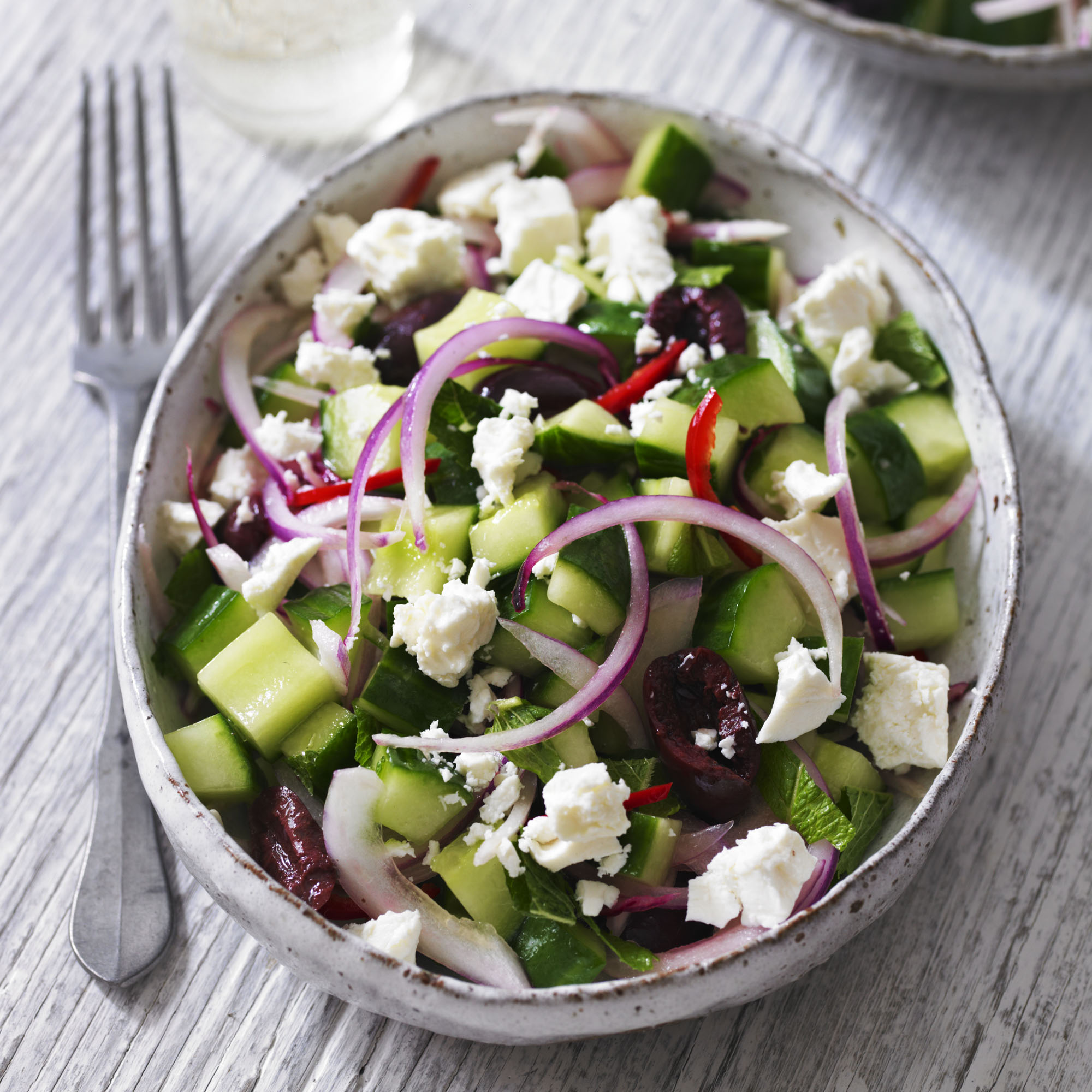 Joanne Weir's Cucumber And Feta Salad Recipe — Dishmaps