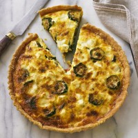 Roasted Courgette and Tomato Tart with Goats' Cheese