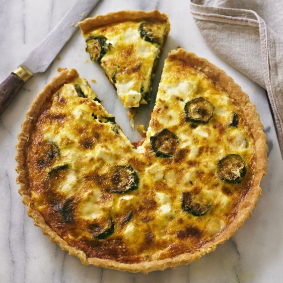 Roasted courgette and tomato tart with goats cheese recipe-recipe ideas-new recipes-woman and home