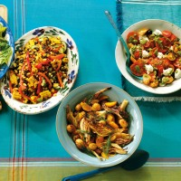 Sweetcorn, black bean, cucumber and sweet pepper salad recipe