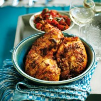 Spiced chicken with tomato salsa recipe