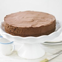 Chocolate cheesecake with Armagnac prunes recipe