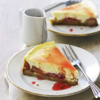 Rhubarb and ginger cheesecake recipe