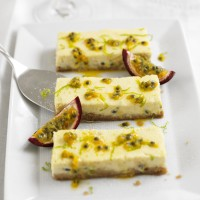 Passionfruit cheesecake slices recipe