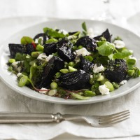 Beetroot and broad bean salad recipe