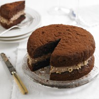 Chocolate & hazelnut victoria sandwich recipe