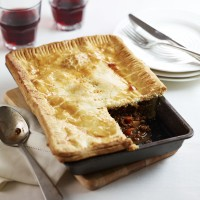 Traditional meat and onion pie recipe