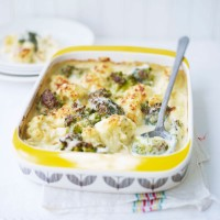 Broccoli and cauliflower bake recipe