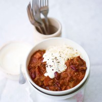 Slow cooked beef chilli recipe