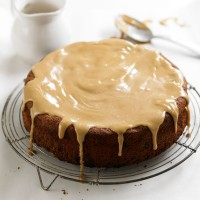 Banana bread cake with butterscotch icing recipe